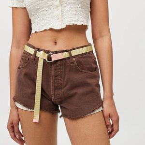 Urban Outfitters Striped Webbed Belt NWT